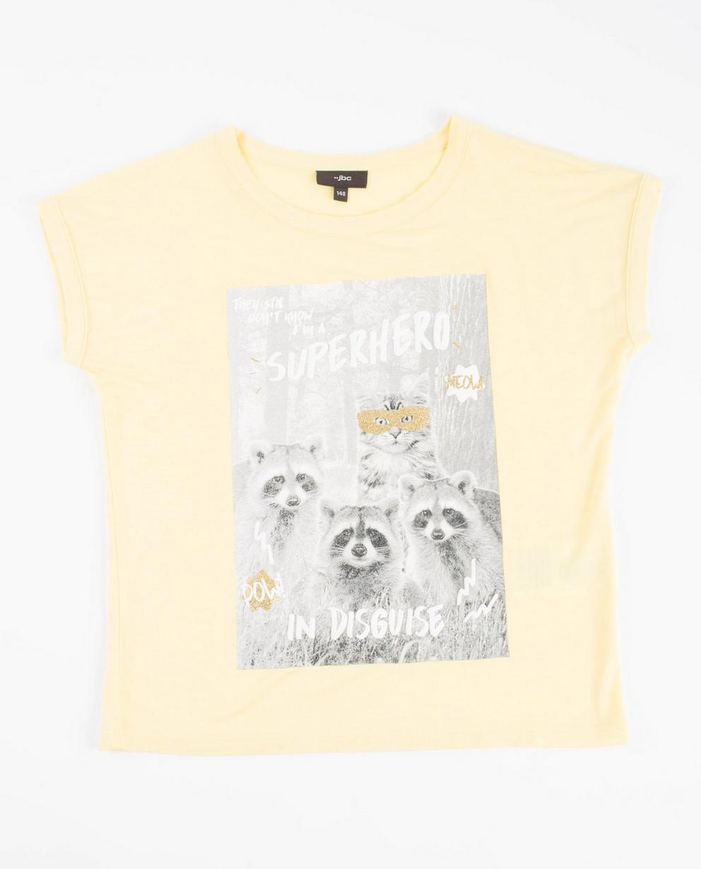 T-Shirt mit Print - in Gelb - JBC